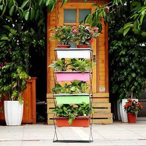 Ikayaa pliable en métal à 4étages pour plantes avec support de support pour pot de jardin Pot de fleurs avec support écran étagère de la marque IKAYAA image 0 produit