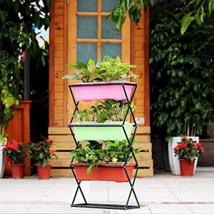 IKayaa Stand de plante pliable en métal de 3/4 niveaux Jardinière Jardinière Étagère de stand de pot de fleur 19.5KG / 26KG Capacité de la marque IKAYAA image 0 produit