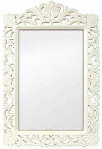 Innova Casa blanc vintage MIROIR 39.5x60.5cm, Miroir avec encadrement 84,5 x 56,5 cm de la marque Innova image 0 produit