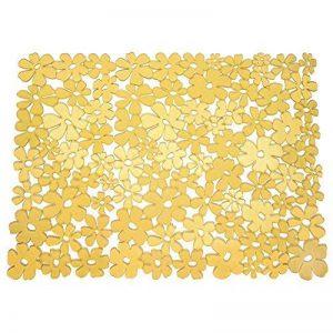 InterDesign Blumz tapis évier - grand fond évier en plastique PVC - protection évier pour lavabo - jaune de la marque InterDesign image 0 produit