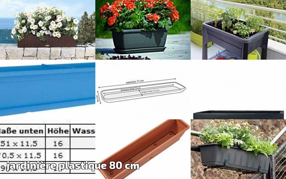 EDA Plastiques PALMEA Jardiniere 80 CM