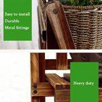 JUN Etagère à fleurs Etagère de jardin pour plante 3 niveaux échelle fleur / plantes porte-étagères / étagère en bois étagère de rangement en bois étagère de rangement pour plante Pots porte-fleur stand coin fleur présentoirs étagère support de rangement image 3 produit