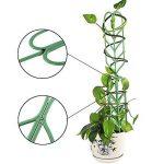 JYCRA support pour plantes de jardin Treillis, DIY Pot de jardin Mini Treillage pour plantes en pleine Croissance support–Forme de feuille, Vert 3Set/9pcs Green de la marque JYCRA image 2 produit