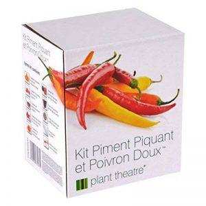 Kit Piment Piquant et Poivron Doux par Plant Theatre - 6variétés différentes à cultiver soi-même – Idée cadeau de la marque Plant Theatre image 0 produit