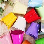 LAAT Mini seau Pots suspendus en métallique Pots de jardin avec crochet détachable Jardinières de balcon Porte-fleurs en bouchon en métal Décor de maison 12 pcs de la marque LAAT image 2 produit