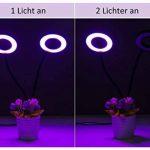 Lampe à plantes LED, Rixow Lampe à double tête de plante avec 360 degrés réglable flexible, minuterie de 3 modes (3H / 6H / 12H) pour le bureau de jardin Plantes aquatiques Fleurs Veg Seedling de la marque Rixow image 3 produit