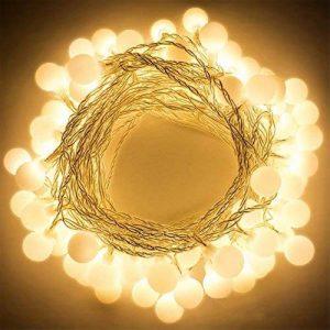 LED Ball String Lights, Bukm 50 Petite Boules Ampoule Blanc chaud Décoration romantique pour Party, 5m LED Lumière Batteries Alimenté pour Noël,Mariage,Chambre Jardin Terrasse Pelouse Décor de la marque Bukm image 0 produit