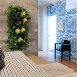 Librao plantation Grow Sacs 7poches Pot de fleurs à suspendre au mur extérieur jardinage intérieur vertical Gazon Vert Conteneur de fleur Noir Pochettes pour plantes de la marque Librao image 1 produit