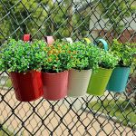 Lot de 10Pot de fleurs à suspendre en fer avec crochets amovibles et trous de drainage, pour décoration de la maison, du jardin ou du balcon. 10Pack de la marque Homelover image 4 produit