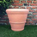 Lot de 2grandes jardinières rondes - Effet terre cuite - Diamètre: 55cm - Hauteur: 49cm de la marque Victorian Garden & Lighting Company image 4 produit