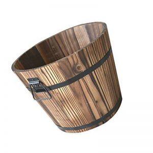 MagiDeal Pot de Fleurs Seau en Bois Style Rustique Rétro Decor Jardin Maison - plat, M de la marque MagiDeal image 0 produit