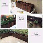 Malayas Bac à Fleurs en Bois Rectangulaire Jardinière Retro Pastoral pour Cultiver Plantes Fleurs Légumes Herbes 55 x 40 x 30cm Potager de Jardin de la marque Malayas image 4 produit