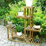 Malayas Étagère à Fleurs en Bois Porte Pots de Plante Fleurs avec 6 Tablettes Escalier Présentoire de Jardin 96x95x25CM de la marque Malayas image 5 produit