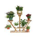 Malayas Étagère à Fleurs en Bois Porte Pots de Plante Fleurs avec 7 Tablettes Escalier Présentoire de Jardin 95×26×91cm de la marque Malayas image 1 produit