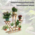 Malayas Étagère à Fleurs en Bois Porte Pots de Plante Fleurs avec 7 Tablettes Escalier Présentoire de Jardin 95×26×91cm de la marque Malayas image 6 produit