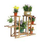 Malayas® Étagère à Fleurs en Bois Porte Pots de Plante Fleurs avec 6 Tablettes Escalier Présentoire de Jardin 96x26x71CM de la marque Malayas image 2 produit