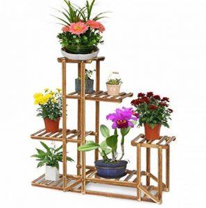 Malayas Étagère à Fleurs en Bois Porte Pots de Plante Fleurs avec 6 Tablettes Escalier Présentoire de Jardin 96x95x25CM de la marque Malayas image 0 produit