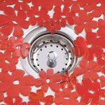 mDesign grand tapis d'évier – tapis de protection pour la cuisine et la salle de bains en lot de 2 – natte d'évier pratique – rouge de la marque MetroDecor image 3 produit