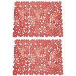mDesign grand tapis d'évier – tapis de protection pour la cuisine et la salle de bains en lot de 2 – natte d'évier pratique – rouge de la marque MetroDecor image 4 produit
