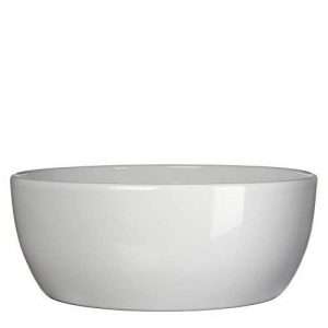 MICA Decorations 144697Tusca Cache-pot en céramique pour l'intérieur, Céramique, Blanc, 26x 26x 10,5cm de la marque MICA Decorations image 0 produit