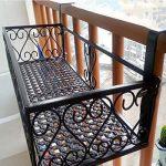Milong Pot de fleurs à suspendre étagère Railing support de plantes de balcon support pour pot de fleurs Noir extérieur Fleur Cadre, Noir , 30 cm de la marque MiLong image 4 produit