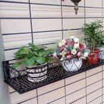 Milong Pot de fleurs à suspendre étagère Railing support de plantes de balcon support pour pot de fleurs Noir extérieur Fleur Cadre, Noir , 30 cm de la marque MiLong image 1 produit