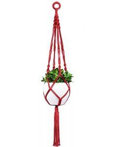 Mkono Suspension Plante Macramé Porte Suspendre Décoration du Jardin avec 4 Jambes en Corde de Coton 101.6 cm - Rouge de la marque Mkouo image 0 produit