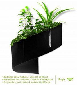 Modul'Green - Pot pour plantes mural Design - Intérieur / Extérieur - Noir de la marque Green Turn image 0 produit