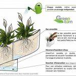 Modul'Green - Pot pour plantes mural Design - Intérieur / Extérieur - Vert de la marque Green Turn image 4 produit