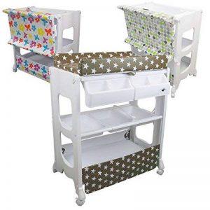 Monsieur Bébé ® Table à langer avec baignoire et rangements - 3 coloris - Norme EN 12221 de la marque Monsieur Bébé image 0 produit