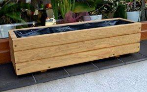Nouveau bac à fleurs en bois tOP pot de fleurs pour jardin et terrasse montée d6 chêne Länge 90 cm de la marque FKL image 0 produit