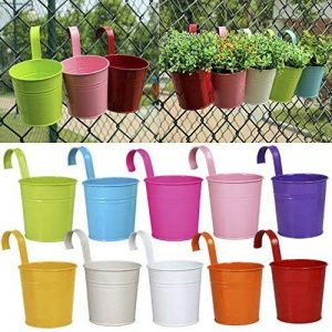 Ogima® (10 PC) Métal Fer Pots de Fleurs Suspendu Balcon Jardin Home Decor de la marque OGIMA image 0 produit