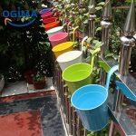 Ogima® (10 PC) Métal Fer Pots de Fleurs Suspendu Balcon Jardin Home Decor de la marque OGIMA image 1 produit