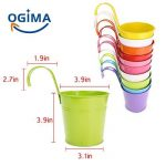 Ogima® (10 PC) Métal Fer Pots de Fleurs Suspendu Balcon Jardin Home Decor de la marque OGIMA image 3 produit
