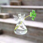 Ototric à suspendre pour terrarium en verre Ange Bouteille à suspendre au mur Vase en verre Transparent pour plante Fleur Décorations de la marque OYOTRIC image 1 produit