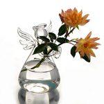 Ototric à suspendre pour terrarium en verre Ange Bouteille à suspendre au mur Vase en verre Transparent pour plante Fleur Décorations de la marque OYOTRIC image 2 produit