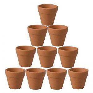 OUNONA Pots en terre cuite Pot de fleur Plante succulente Cactus 10 pièces de la marque OUNONA image 0 produit
