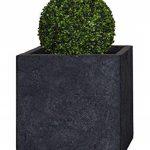 PFLANZWERK® Pot de fleur CUBE Jardinière Lava Anthracite 28x28x28cm *Résistant au gel* *Protection UV* *Qualité européenne* de la marque Pflanzwerk image 2 produit