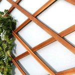 Porte-plancher en pot de fleurs. Grille en bois massif Grilles de fleurs d'escalade Clôture en bois anti-corrosion Clôture télescopique Décoration de balcon Revêtement mural Étagère à fleurs Plantes en pot ( Couleur : H44 ) de la marque GYMhz image 4 produit
