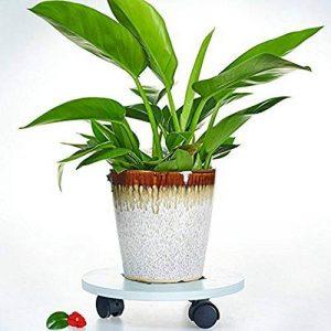 Pot de fleur balcon avec Rouleau en bois ,29cm,PVC,Creux de gravure de la marque ADM-LC image 0 produit
