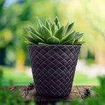 Pot de fleur en blanc plastique Matuba jardiniere 40 cm de diametre de la marque Unbekannt image 2 produit