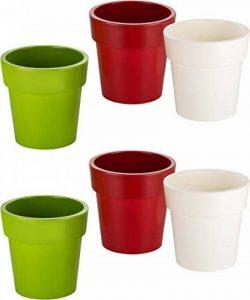 pot de fleur intérieur rouge TOP 8 image 0 produit