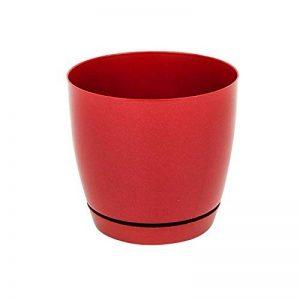 Pot de fleur Toscana en plastique rond 15 cm avec soucoupe, en rouge de la marque Form Plastic image 0 produit
