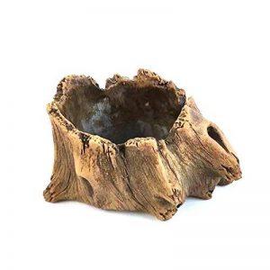 Pot de fleurs en ciment imitation bois en forme de tronc d'arbre - Par Agent T, kaki, S de la marque Agent T image 0 produit