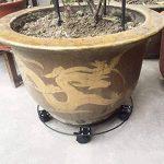 Pot de fleurs Mobile Base Porte Fleurs avec roue Plante Pot de fleurs support en métal chariot Caddy Jardin Intérieur Extérieur de la marque Beimaji Trade image 1 produit