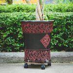 Pot de fleurs Mobile Base Porte Fleurs avec roue Plante Pot de fleurs support en métal chariot Caddy Jardin Intérieur Extérieur de la marque Beimaji Trade image 3 produit