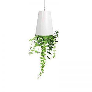 Pot de Fleurs à Suspendre Jardinière Plantes Suspendu à l'envers en Plastique Décoration Maison Balcon Jardin avec accessoires 13*9.3*6.2cm (Blanc) de la marque Yosoo image 0 produit