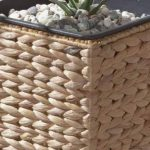 Pot à fleur Gartenfreude en jacinthe d'eau tressée avec insert en plastique étanche, coleurs naturelles, 28 x 28 x 60 cm de la marque Weles GMBH image 2 produit