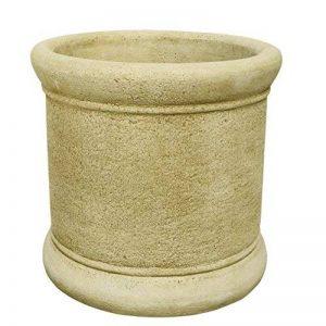 Pot jardinière pot de fleur rond lisse extérieur de Pierre 60x 60cm. de la marque CATART image 0 produit