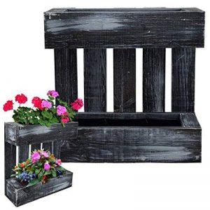 PROHEIM Jardinière en palette murale suspendue 43,5 x 43 x 14 cm en couleur noir 'Black Live Line' faite au 100% de bois FSC certifié de la marque PROHEIM image 0 produit